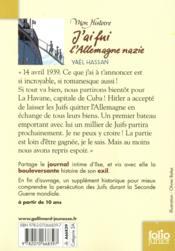 J'ai fui l'Allemagne nazie ; journal d'Ilse (1938-1939) - 4ème de couverture - Format classique