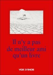 Il N'Y A Pas De Meilleur Ami Qu'Un Livre - Couverture - Format classique