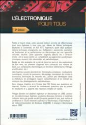L electronique pour tous - 2e edition - 4ème de couverture - Format classique
