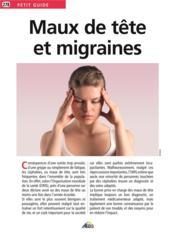 Maux de tête et migraines - Couverture - Format classique