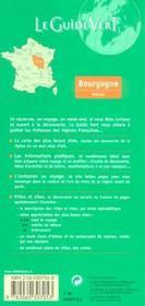 LE GUIDE VERT T.307 ; Bourgogne, Morvan - 4ème de couverture - Format classique