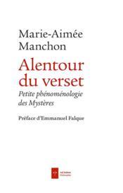 Alentour du verset ; un chapelet phénoménologique - Couverture - Format classique