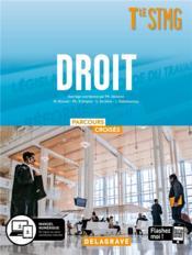 Parcours croisés ; droit ; terminale STMG ; manuel de l'élève (édition 2020) - Couverture - Format classique