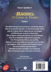 Marabel T.1 ; Marabel et le livre du destin - 4ème de couverture - Format classique