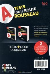 Code Rousseau ; test de la route ; 160 questions type examen (édition 2021) - 4ème de couverture - Format classique