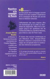 Napoléon et la campagne de Russie : 1812 (2e édition) - 4ème de couverture - Format classique