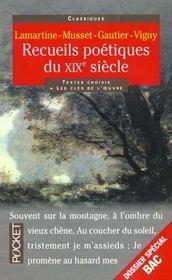 Recueils Poetiques Du Xixe Siecle - Intérieur - Format classique