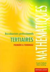 Maths 1re Et Ter Bac Pro Tertiaires - Intérieur - Format classique