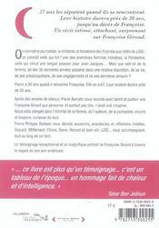 Ma Tres Chere Francoise - 4ème de couverture - Format classique