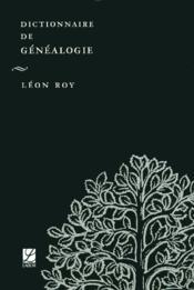 Dictionnaire De Genealogie - Couverture - Format classique
