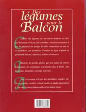 Legumes pour le balcon - 4ème de couverture - Format classique