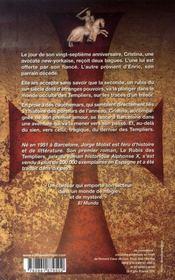 Le rubis des templiers - 4ème de couverture - Format classique