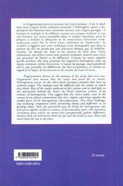 Heterogene et l'heteroclite dans la litt - 4ème de couverture - Format classique