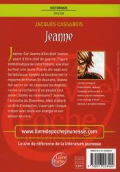 Jeanne - 4ème de couverture - Format classique
