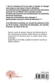 Cris Mecreant - 4ème de couverture - Format classique