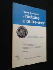 Revue d'histoire d'outre-mer, tome LVIII, n°212, 3e trimestre 1971 - Couverture - Format classique