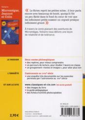 Micromégas ; Jeannot et Colin - 4ème de couverture - Format classique