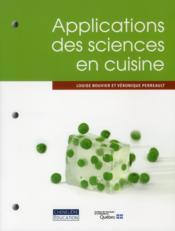 Applications des sciences en cuisine - Couverture - Format classique