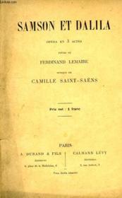 Samson Et Dalila, Opera En 3 Actes - Couverture - Format classique