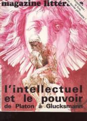 Magazine Litteraire N°183 - L'Intellectuel Et Le Pouvoir De Plato A Glucksmann - Couverture - Format classique
