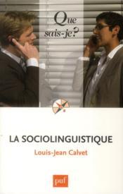 La sociolinguistique (8e édition) - Couverture - Format classique