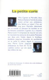 La petite Curie - 4ème de couverture - Format classique