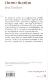 L'homme Napoléon - 4ème de couverture - Format classique