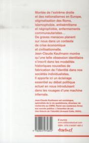 Identités, la bombe à retardement - 4ème de couverture - Format classique