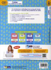 Cahier de problèmes de maths ; CE1 ; 7-8 ans ; apprendre à résoudre des problèmes - 4ème de couverture - Format classique