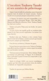 L'incolore Tsukuru Tazaki et ses années de pèlerinage - 4ème de couverture - Format classique