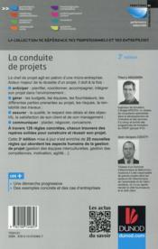 La conduite de projets ; les 101 règles pour piloter vos projets avec succès (3e édition) - 4ème de couverture - Format classique