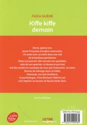 Kiffe kiffe demain - 4ème de couverture - Format classique