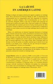 La laïcité en Amérique latine - Couverture - Format classique