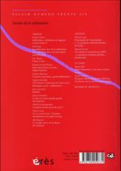REVUE ESSAIM N.36 ; destins de la sublimation - 4ème de couverture - Format classique