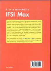 Ifsi max cours, 1re annee - 4ème de couverture - Format classique