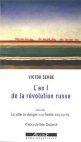 L'an 1 de la révolution russe ; la vie en danger - Couverture - Format classique