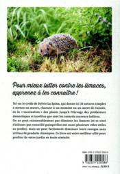 Gestion écologique des limaces et des escargots au jardin ; 35 techniques & astuces qui fonctionnent - 4ème de couverture - Format classique