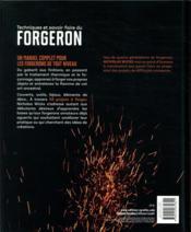 Techniques et savoir-faire du forgeron ; 55 projets à réaliser pas à pas - 4ème de couverture - Format classique