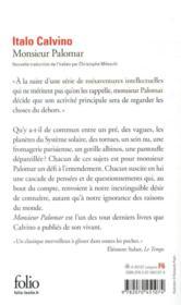 Monsieur Palomar - 4ème de couverture - Format classique