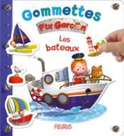 Gommettes ; P'tit Garçon ; les bateaux - Couverture - Format classique
