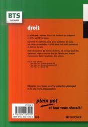 Droit (9e Edition) - 4ème de couverture - Format classique
