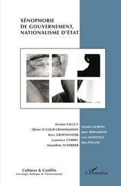 Revue Cultures & Conflits ; Xénophobie De Gouvernement, Nationalisme D'Etat - Intérieur - Format classique
