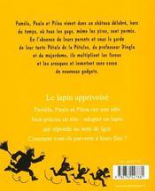 Les Petules Le Lapin Apprivoise - 4ème de couverture - Format classique