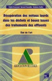 Recuperation des metaux lourds dans les dechets et boues issues des traitements des effluents : etat de l'art - Couverture - Format classique