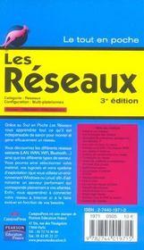 Reseaux - 4ème de couverture - Format classique
