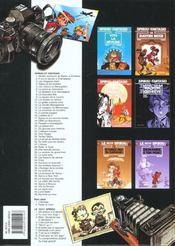 Les aventures de Spirou et Fantasio T.17 ; Spirou et les hommes-bulles - 4ème de couverture - Format classique