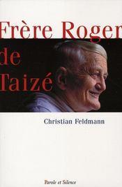 Frère Roger de Taizé - Intérieur - Format classique