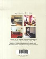 30 espaces à idées; petits budgets, maxi effets - 4ème de couverture - Format classique