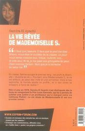 La vie rêvée de mademoiselle S. - 4ème de couverture - Format classique