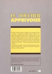 Le toucher apprivoise - 4ème de couverture - Format classique